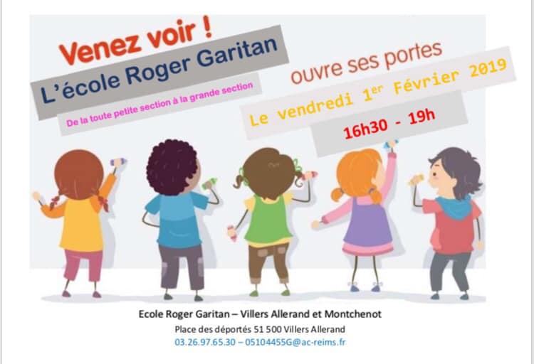 École Roger Garitan : Portes ouvertes @ École Maternelle Roger Garitan  | Villers-Allerand | Grand Est | France
