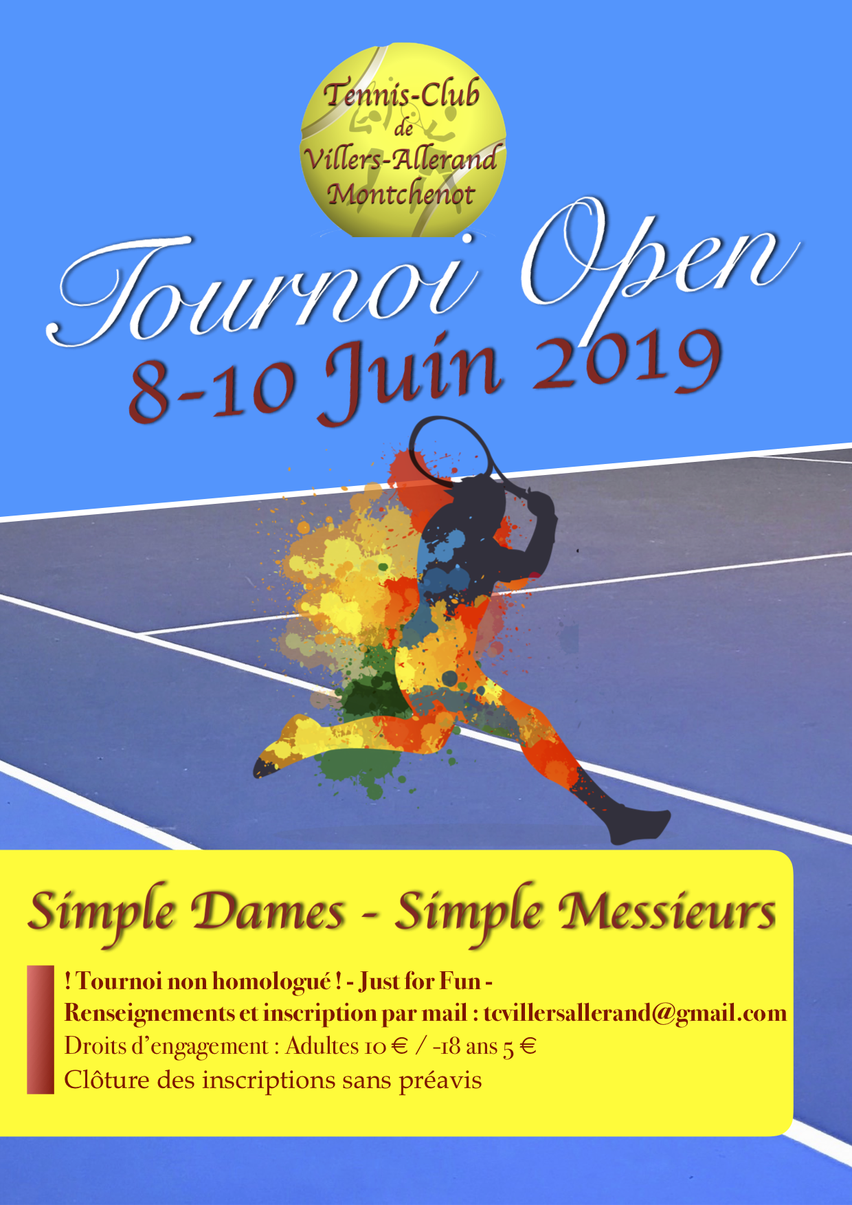 Tournoi de Tennis @ Tennis-Club | Villers-Allerand | Grand Est | France