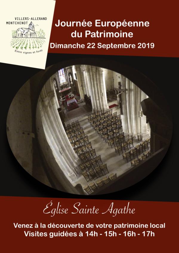 Journée du Patrimoine @ Église Sainte Agathe | Villers-Allerand | Grand Est | France