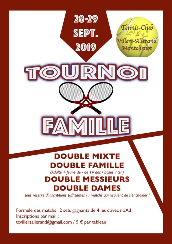 Tournoi Famille @ Tennis-Club de Villers-Allerand Montchenot | Villers-Allerand | Grand Est | France