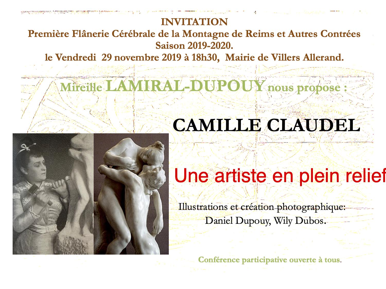 Flânerie cérébrale : Camille Claudel @ Mairie de Villers-Allerand Montchenot | Villers-Allerand | Grand Est | France