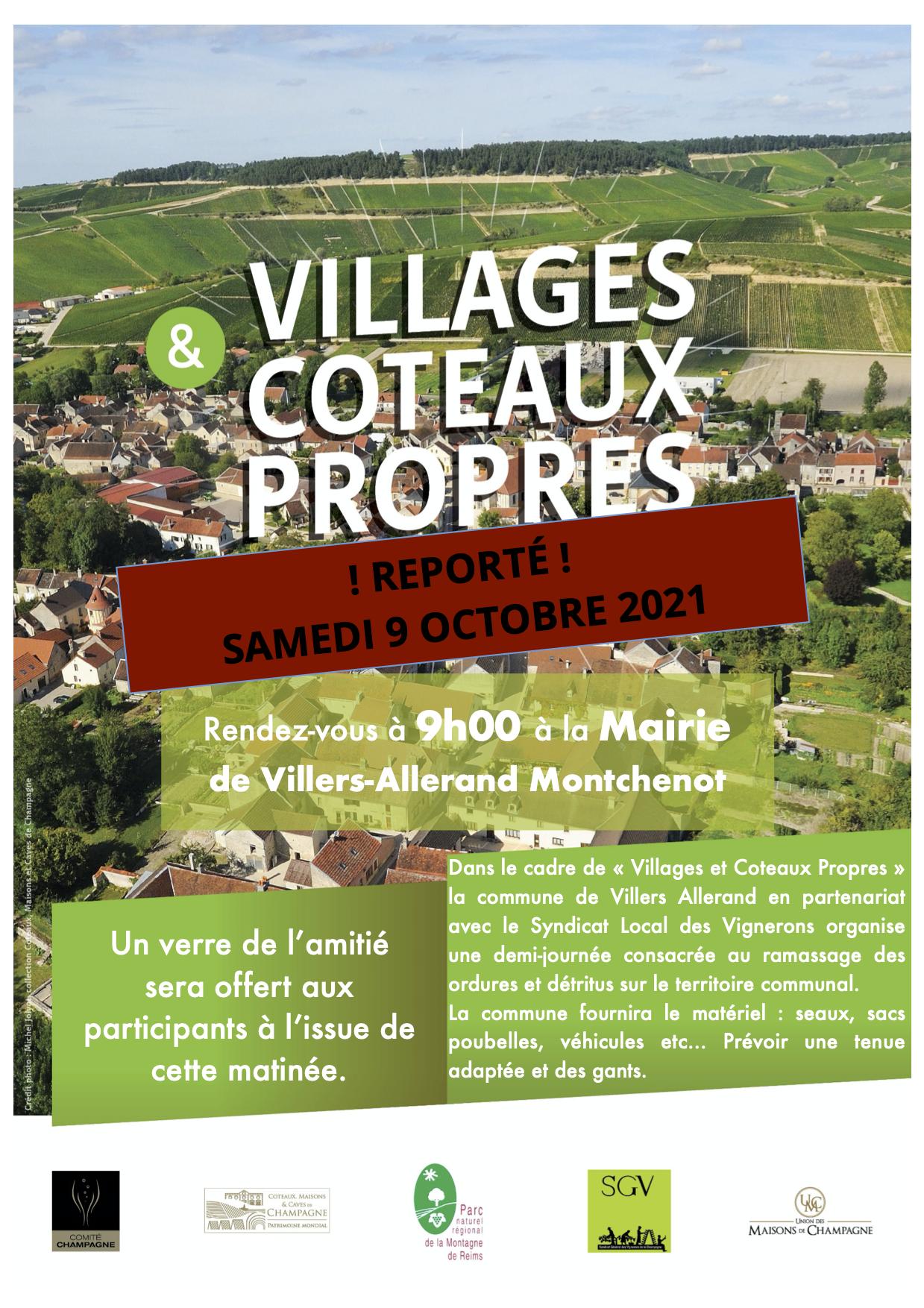 Villages et Coteaux Propres @ Mairie de Villers-Allerand Montchenot | Villers-Allerand | Grand Est | France
